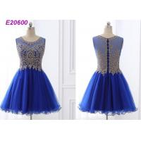 Quality Beautiful A Line Blue Cocktail Dresses , Special Occasion Formal Cocktail Dresses for sale
