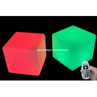 RGB Colorful Led Cube Chair Outdoor Light Up Patio Furniture For Party Events