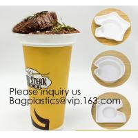 China Flower Shaped 330ml PP Plastic Snack Plate With Cup Holder,Disposable PS Plastic Cup Top Snack Tray,Snack Cup With Straw on sale