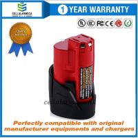 Buy cheap 12V 2500mAh Lithium-ion Replacement Battery for Milwaukee M12 Milwaukee 48-11 from wholesalers