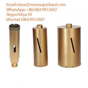 Quality vacuum brazed diamond core bits for construction materials coring miya@moresuperhard.com for sale