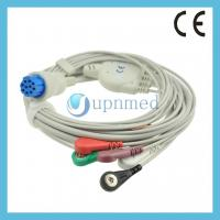 Quality Datex Cardiocap 5 five lead ECG Cable with leadwires, 10pins for sale