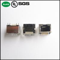 Quality modular jack rj45 /8P8C RJ45 PCB Jack with or without Shield and LED for sale