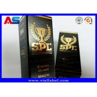 Quality Printed Cardboard Storage 10ml Vial Boxes With Lids Testosterone Gels Gold Foil Packaging for sale