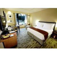 Quality Single Room Luxury Hotel Bedroom Furniture Solid Wood Movable Design for sale