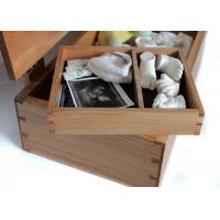 Quality Natural Color Bamboo Gift Box , Bamboo wood Handmade Gift Box With Hinged Lid for sale