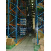 Quality Narrow Aisle Heavy Duty Pallet Racking System Stacked Forklift Operation for sale