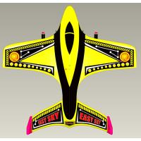 Quality Modern Design 2 Channel Small Yellow RC Airplane With 3.7V 200mAh Li-poly Battery for sale