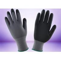 Quality Full Micro Foam Nitrile Coated Gloves Safety Working Customer Design Logo for sale