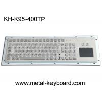 Quality Water Proof Stainless Steel 95 Keys Metal Industrial Keyboard Layout Customizable for sale