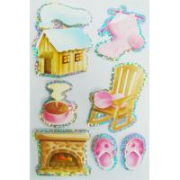 Quality scrapbooks 2mm thin Custom Holographic Stickers / Die cut season stickers for sale