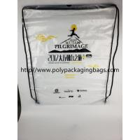 Quality Cheap Price Drawstring Frosted Recycled Plastic Backpack for sale