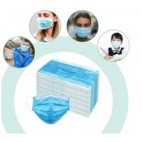 China 3 Layer Non Woven Disposable Face Mask Meltblown PP Filter Material With Earloop on sale
