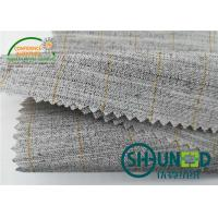 Quality Heavyweight Garment Stretched Cotton Canvas Fabric / Horsehair Interlining For Suit for sale