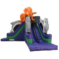 Buy cheap Custom Made Mega Octopus Inflatable Water Slide Pool Toboggan Pour Piscine from wholesalers