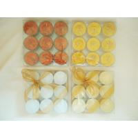 Quality Gold Glitter Christmas Scented Tealight Candles for Parties, Bars for sale