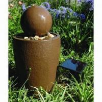 Quality Fiberglass Ball Garden Fountain with Solar Pump, Easy to DIY for sale