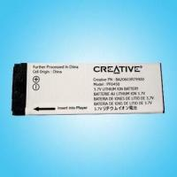 China Removable Battery for Creative MP3 Players on sale