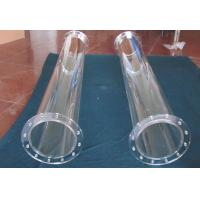 Buy cheap Solar Reactor Applied Heat Resistant Fused Quartz Glass Tube With Flange from wholesalers