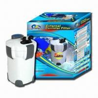 China Aquarium External Filter with 18W Power, 110, 220 and 240V Voltage, Measuring 232 x 232 x 395mm on sale