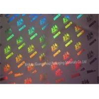Quality Metallized Polypropylene BOPP Holographic Film Laser Transfer 21 Micorn Thickness for sale