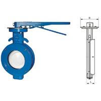 Quality WBLX single eccentric manual wafer soft seat butterfly valve dimension 200mm for sale
