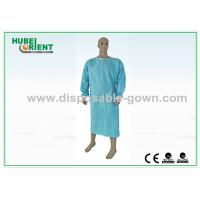 Quality Standard SMS Disposable Scrub Suits Blue Color 50gsm - 70gsm for sale