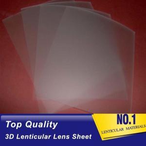 Quality 161 Lpi 51X71CM Lenticular Lens Film 0.25mm PET 3D Sheet Lenticular Lenses material for 3d lenticular printing service for sale
