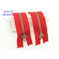 Buy cheap Antique Silver Close End  Metal Teeth Zipper Decorative For Bags / Garments / Pants from wholesalers