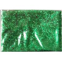 PET Green Color Hexagon Glitter Pigment For Cosmetic Products