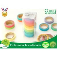 Quality Arts / Gift Crafts Wrapping Japanese Washi Paper Tape Girls Favorite Color for sale