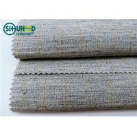 Quality Polyester Mixed Horsehair Interlining Canvas Hair Lining For Men Uniform Suits for sale