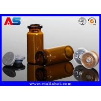 Quality Essential Oil  Small Glass Vials 8ml , Amber Injection Glass Vial With Rubber And Gold Cap for sale
