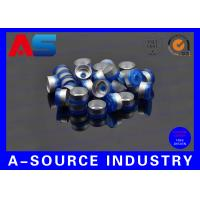 Quality 10mL Chemistry Pharmaceutical Vials 20mm Blue Flip Top Caps ISO 9001 Approval for sale