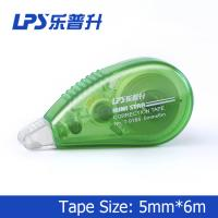 Quality Green Mini Correction Tape , PET Colored Eco Friendly Staples Correction Tape for sale