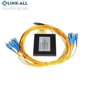 Quality 1x8 Passive Fiber PLC Splitter SMF-28e fiber with Plastic ABS Box Package for sale