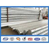 Quality 25FT - 45FT 15KV Octagonal Hot Dip Galvanized Steel Pole , Electric Power Pole for sale