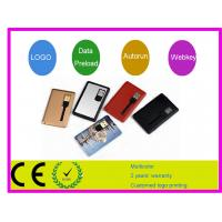 Quality Personised Promotion gift 1G 2G 4G 16G Credit Card USB Drive  memory AT-045A for sale