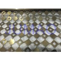 Quality Anti Corrosion Decorative Metal Curtains With Square Plates Space Partition for sale