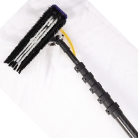 Quality 20m heavy duty extension telescopic carbon fiber window cleaning poles for sale
