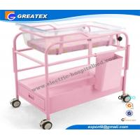 Quality Simple Style hospital baby Cot / Trolley / carriage With Adjustable Height for sale
