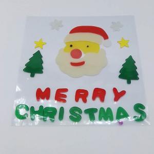 Xmas Day Gel Stickers Window Sticker Jelly  Sticker Spring Gel Clings Christmas Day Gift