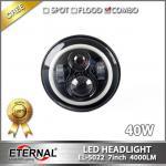7 round 40W J.W Speakers Jeep wrangler JK CJ YJ TJ LED headlight replacement Harley mortorcycle headlamp