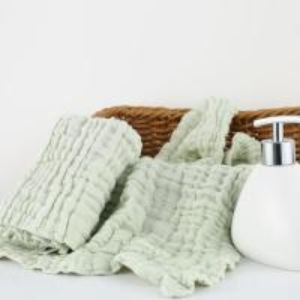 Quality Reusable Functional Herbal Muslin Bath Towels Seersucker Style Size 25