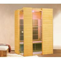 Quality Hemlock Wood 2 Person Infrared Sauna Room with Color Therapy LED for sale