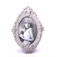 China Baroque Antique Oval Resin Photo Frame For House Decoration 4X6 Asst 4 Colors on sale