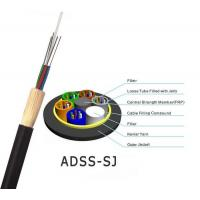 China ADSS Optical Fiber Cable All Dielectric Self Supporting Aerial With 100m 200m Span on sale