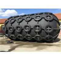 China Pneumatic Floating Nature Rubber Fender Galvanized Tyre Chain Net Anti Corrosion on sale