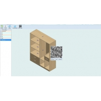 Quality Haixun Furniture Design System QR code installation drawing Six sides drawing for sale