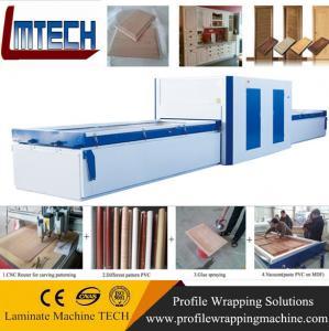 China mdf laminated kitchen cabinet antique door vacuum membrane press machine on sale